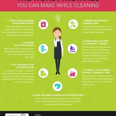 The Worst Mistakes You Can Make While Cleaning